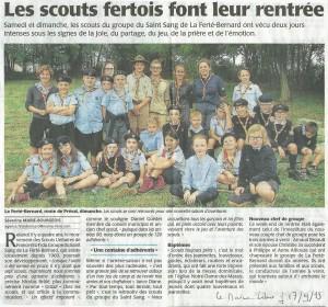 Le Maine Libre - 2015-09-17 -Les Scouts fertois font leur rentrée